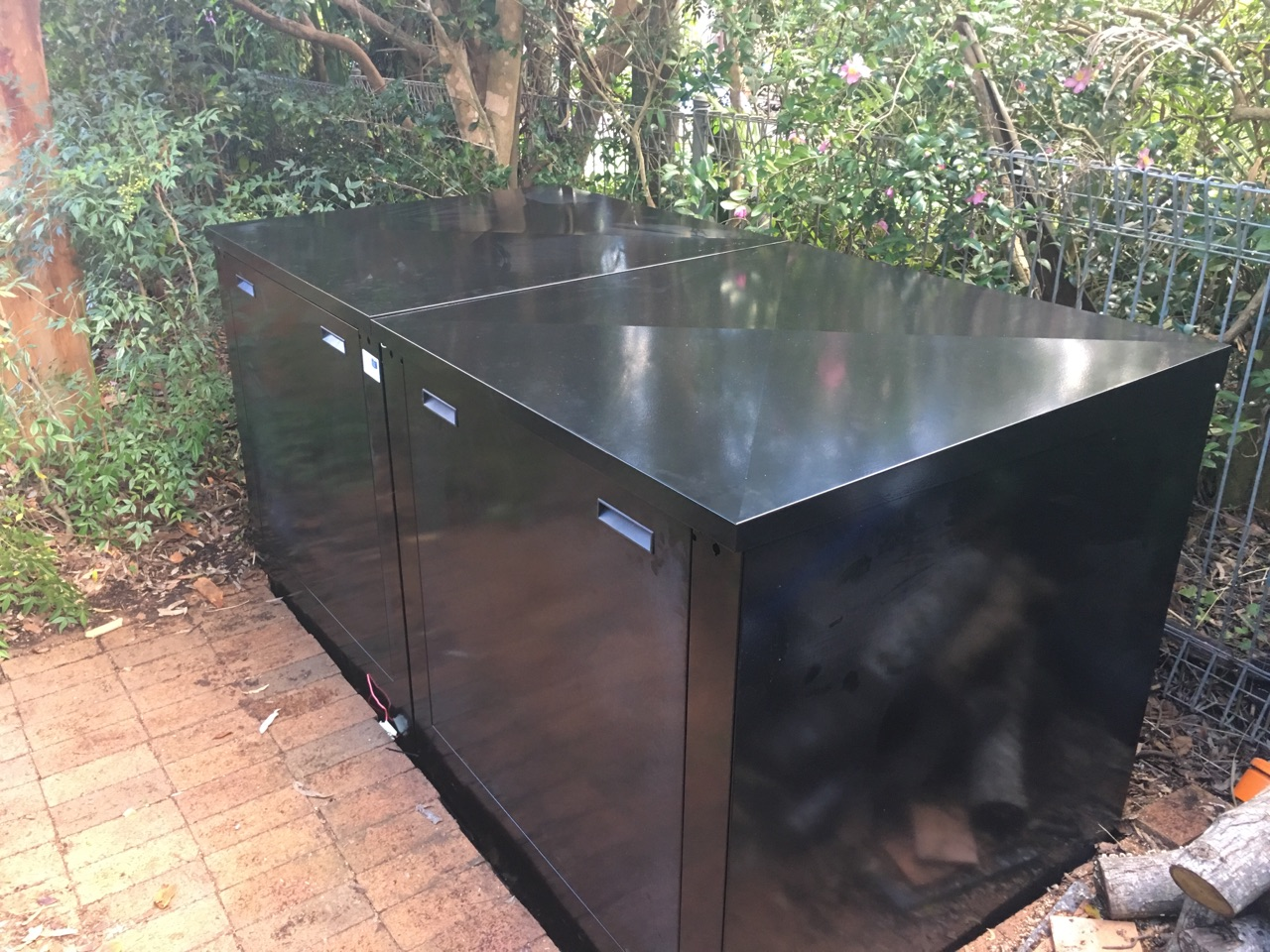 The Large Pool Filter Cover in Classic Black